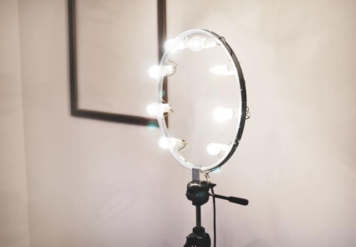 ring light, lampa pierścieniowa, oświetlenie fotograficzne, DIY, instrukcja, blog