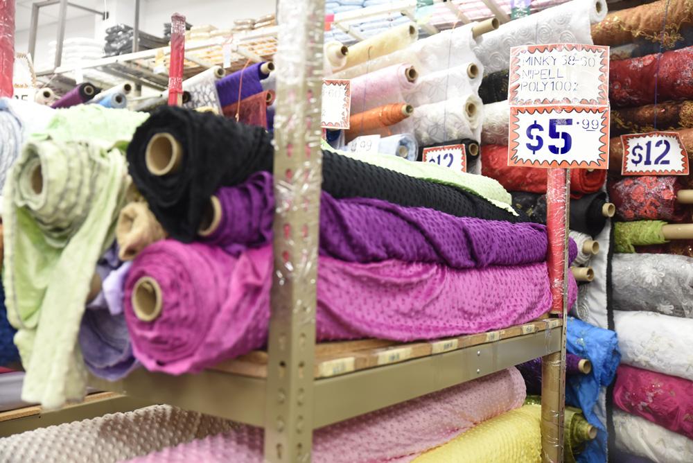 turystyla tekstylna, sklepy z tkaninami, Los Angeles