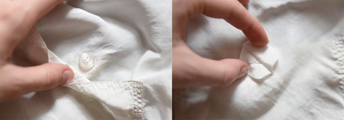 delikatne tkaniny guziki