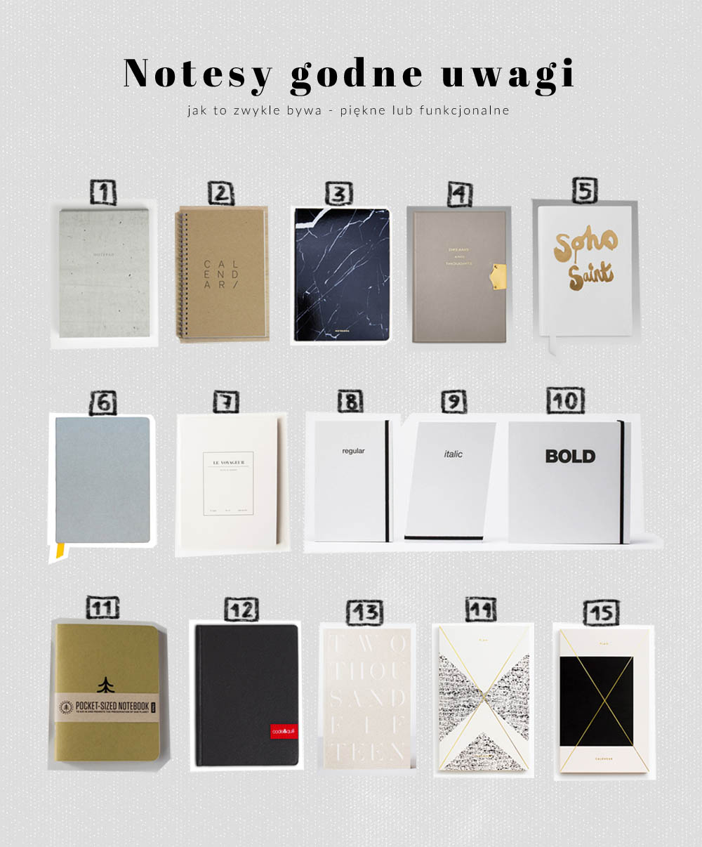 piękne funkcjonalne notesy prezent, ładne notesy, notatniki, kalendarze na prezent