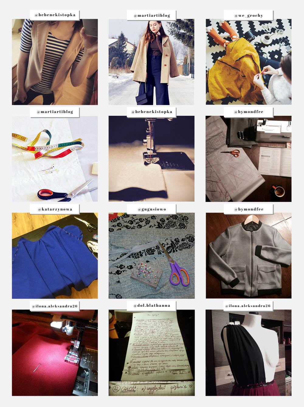 slow sewing instagram wyzwanie szyciowe joulenka blog o szyciu