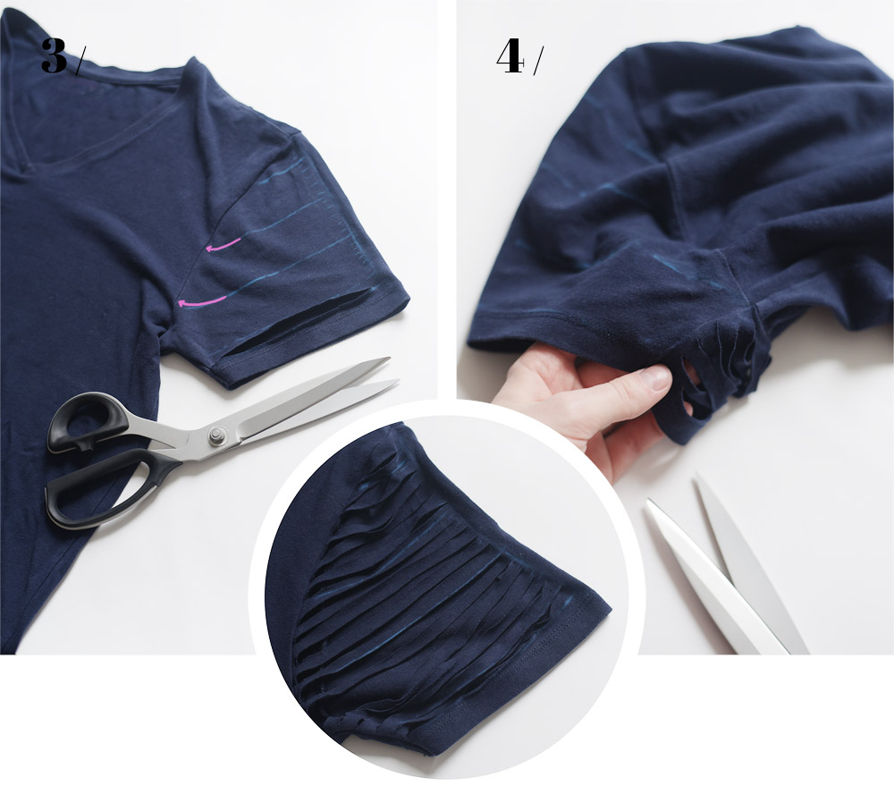 Bluzka z frędzlami, DIY, Zalando DIY, blog, joulenka