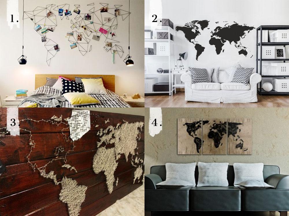 mapy swiata inne, mapa swiata diy, mapa świata na ścianę, mapa na ścianę, mapa ścienna, instrukcja, DIY, inspiracje