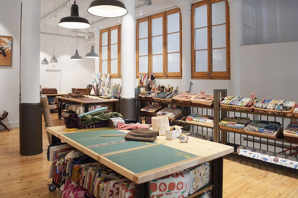 nunoya sklepy z tkaninami, barcelona, zakupy tkaninowe na wakacjach
